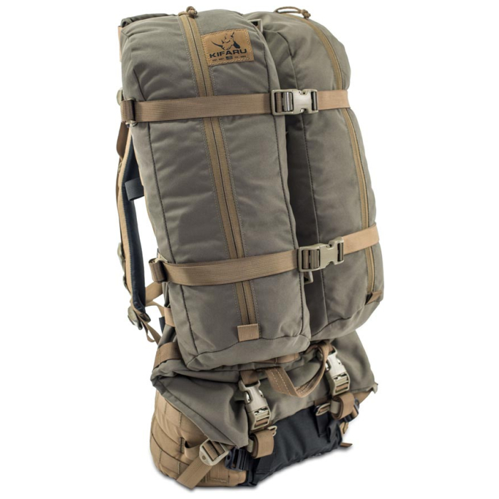 Kifaru International Fulcrum (29.5 Liters - 128 Liters Bag Only) Two Bags Strapped Together by a Bigger Bag