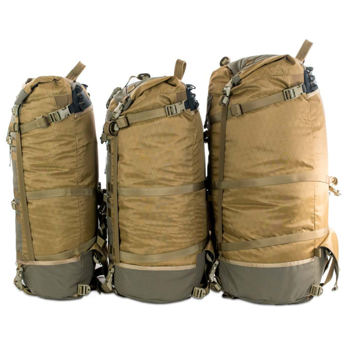 Kifaru International Muskeg (Bag Only) Group Photo of All Bags placed together sideways