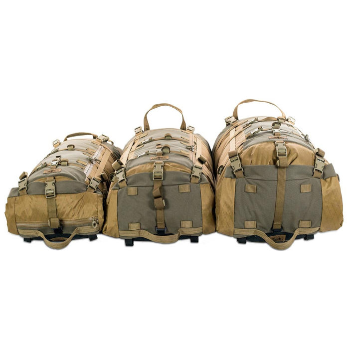 Kifaru International Muskeg (Bag Only) Group of All Bags Laying Down Next to Each Other