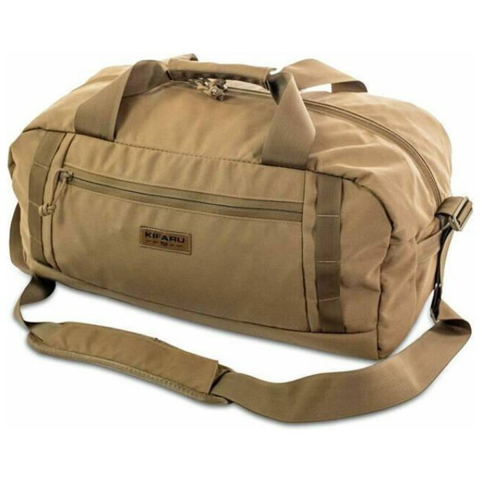 Rampart Duffel – 2000 ci - 32.77 L Frontal Photo of Coyote Brown Color