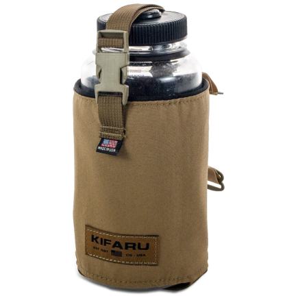 Water Bottle Pocket Diagonal Photo of Coyote Brown Color