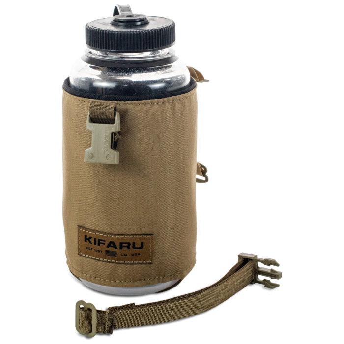 Water Bottle Pocket Photo of Coyote Brown Color with Attachment Strap