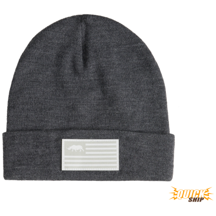Old School Flag Beanie Charcoal