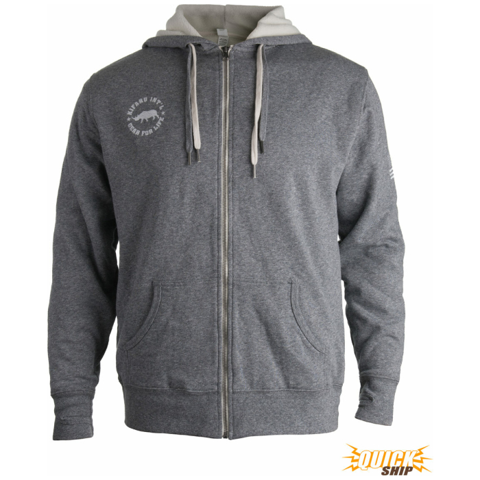 Gray Sherpa Lined Hoodie Front